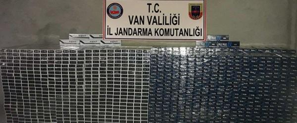 Van'da 23 bin 120 paket kaçak sigara ele geçirildi