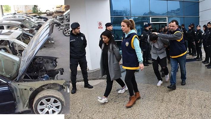 """Bursa'daki """"change"""" operasyonunun 16 zanlısı tutuklandı"""