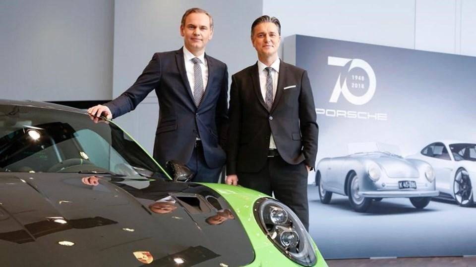 PorscheBaşkan Yardımcısı Lutz Meschke (sağda)