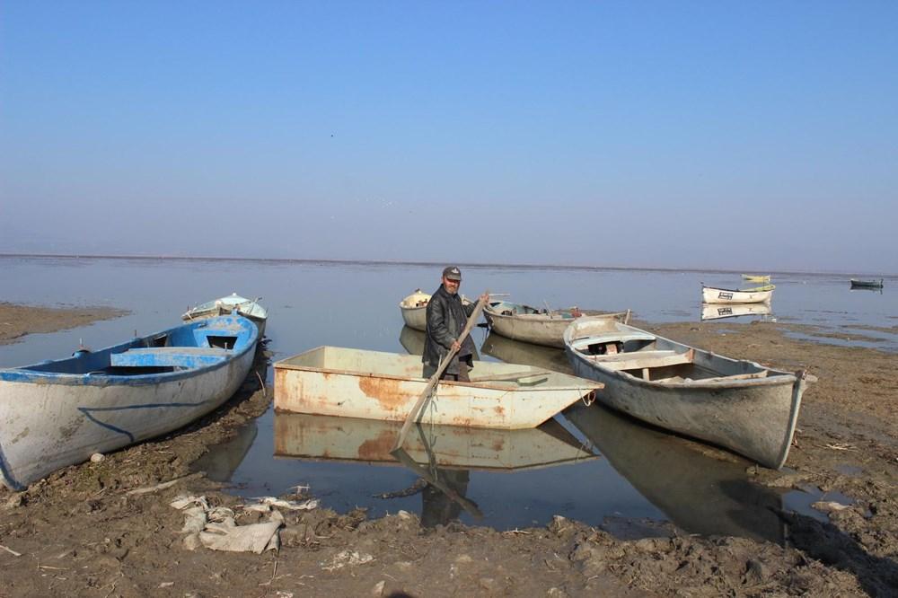'Kuş cenneti' Marmara Gölü'nde derinlik 40 santimetreye düştü - 4