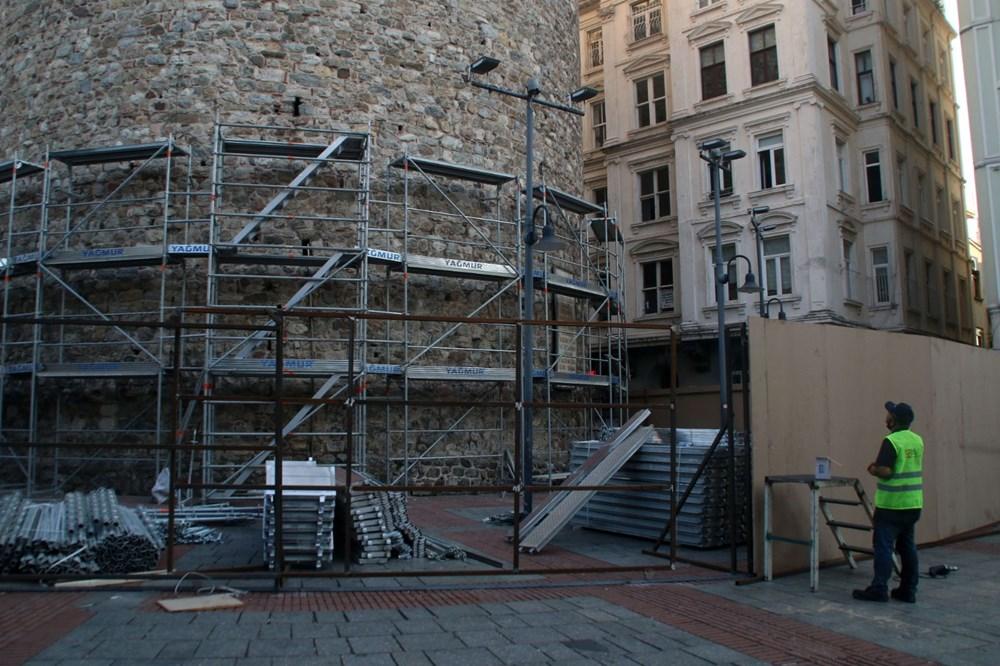 Galata Kulesi'nde restorasyon başladı - 12