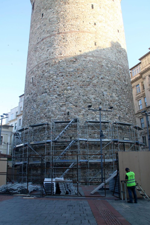 Galata Kulesi'nde restorasyon başladı - 5