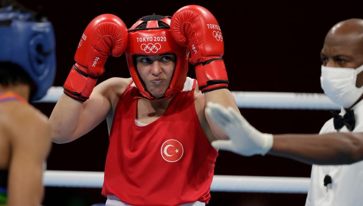 SON DAKİKA: Boksta kadınlar 69 kiloda Busenaz Sürmeneli, finale yükseldi