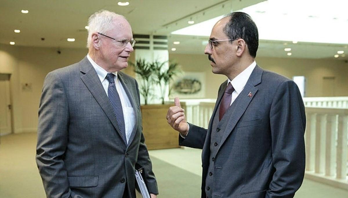 Cumhurbaşkanlığı Sözcüsü Kalın, ABD Suriye Özel Temsilcisi Jeffrey ile görüştü