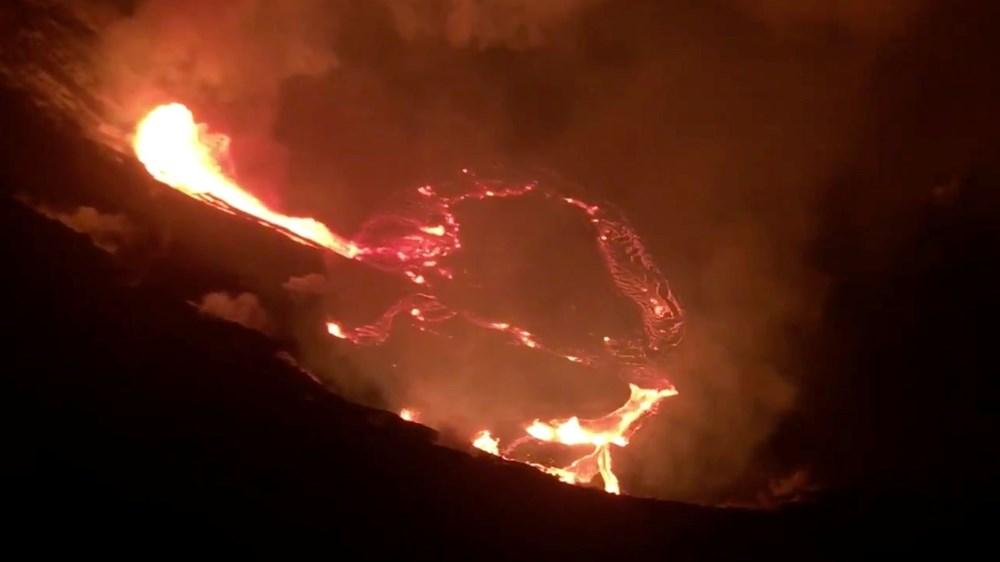 Kilauea Yanardağı'nda patlamaları: Krater gölü buharlaştı - 3