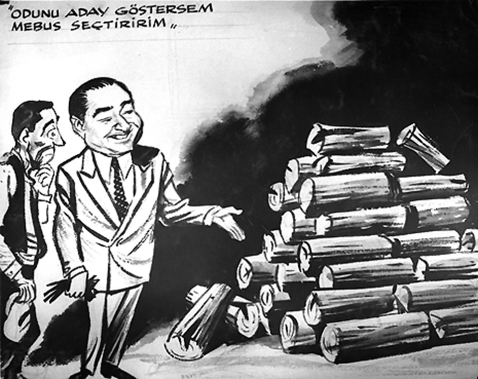 Türkiye'de bitmeyen bir tartışma: Lider sultası. 1950'lerde Başbakan'lık yapan Adnan Menderes'i eleştiren bir karikatür durumu tüm çıplaklığıyla özetliyor. Yıllar ve devirler değişse de partilerde durum aynı.