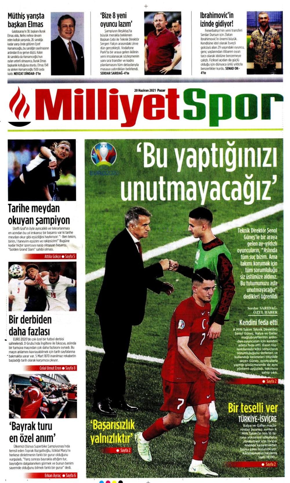 Günün spor manşetleri (20 Haziran 2021) - 11