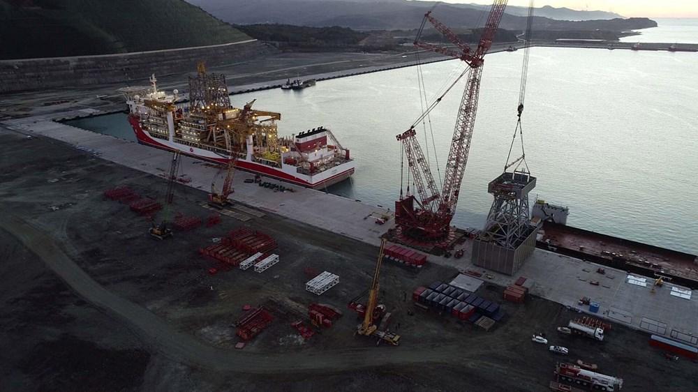 Kanuni sondaj gemisinin kule montaj çalışmaları başladı - 3