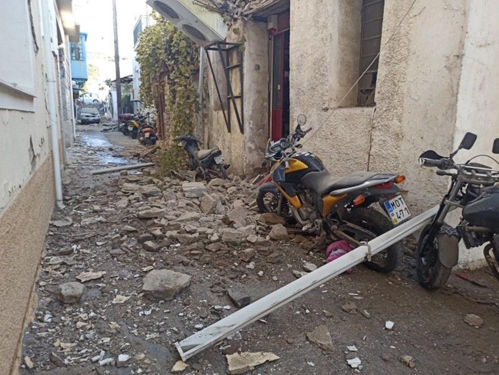 Depremin merkez üssü Yunan adası Sisam'dan ilk fotoğraflar - 10
