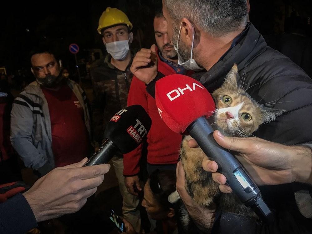 İzmir'de enkazda K-9 köpeği kediyi kurtardı - 6