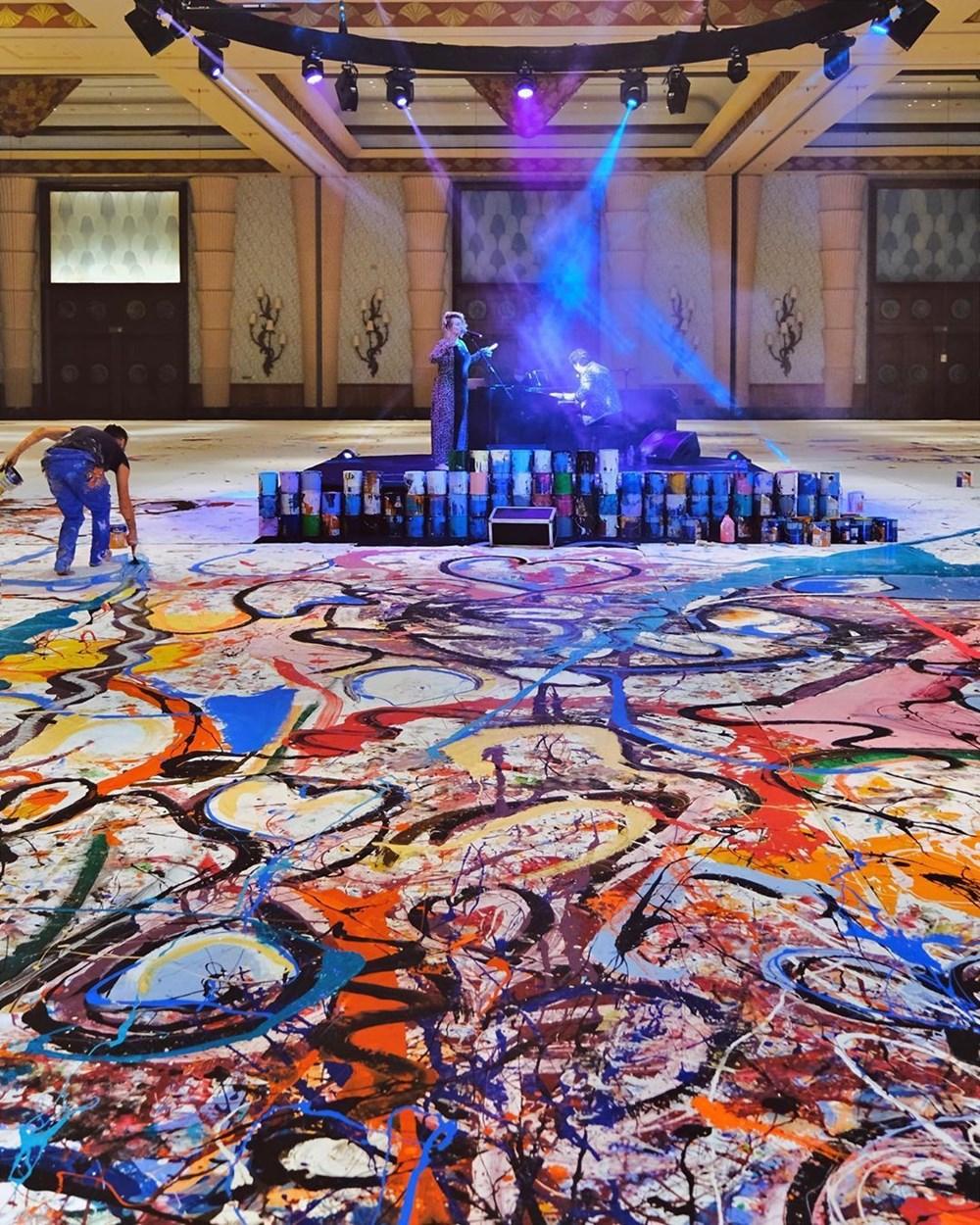 Ressam Sacha Jafri rekora koşuyor - 5