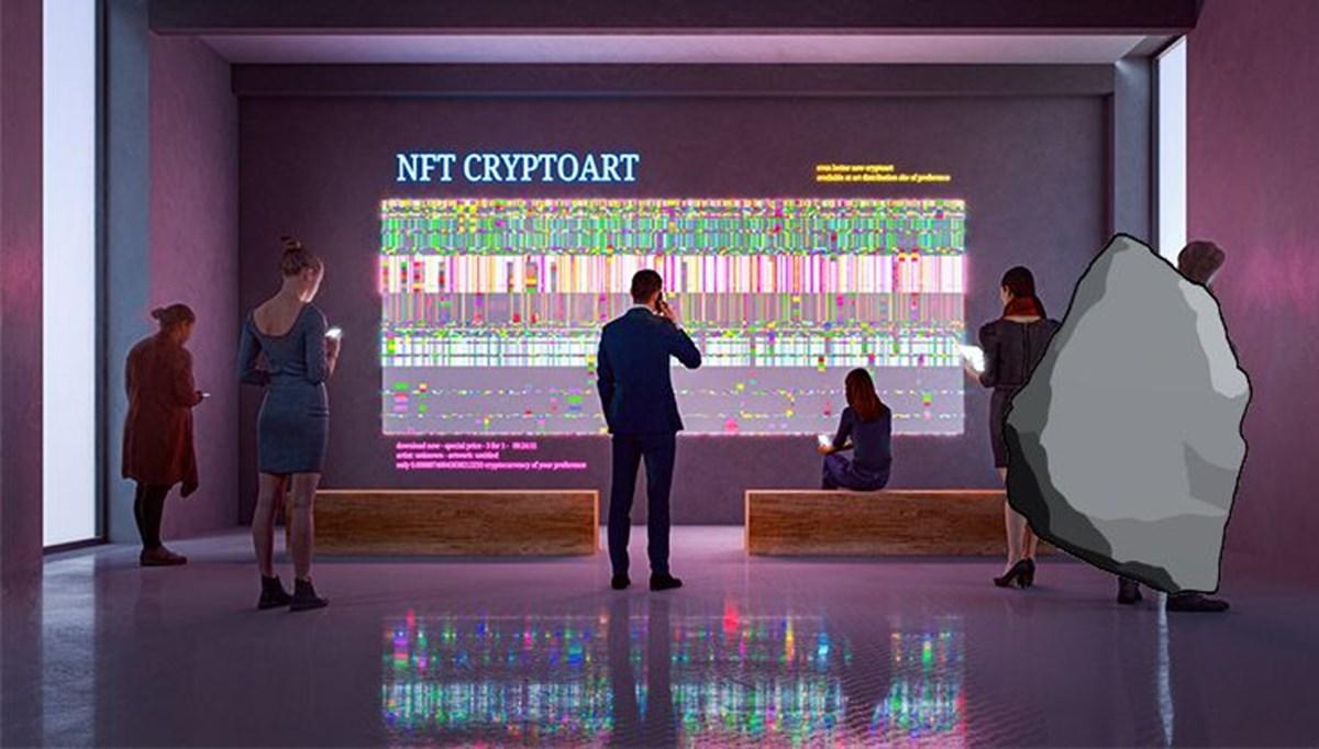 NFT piyasası çıldırdı: Taş görseline 1.3 milyon dolar