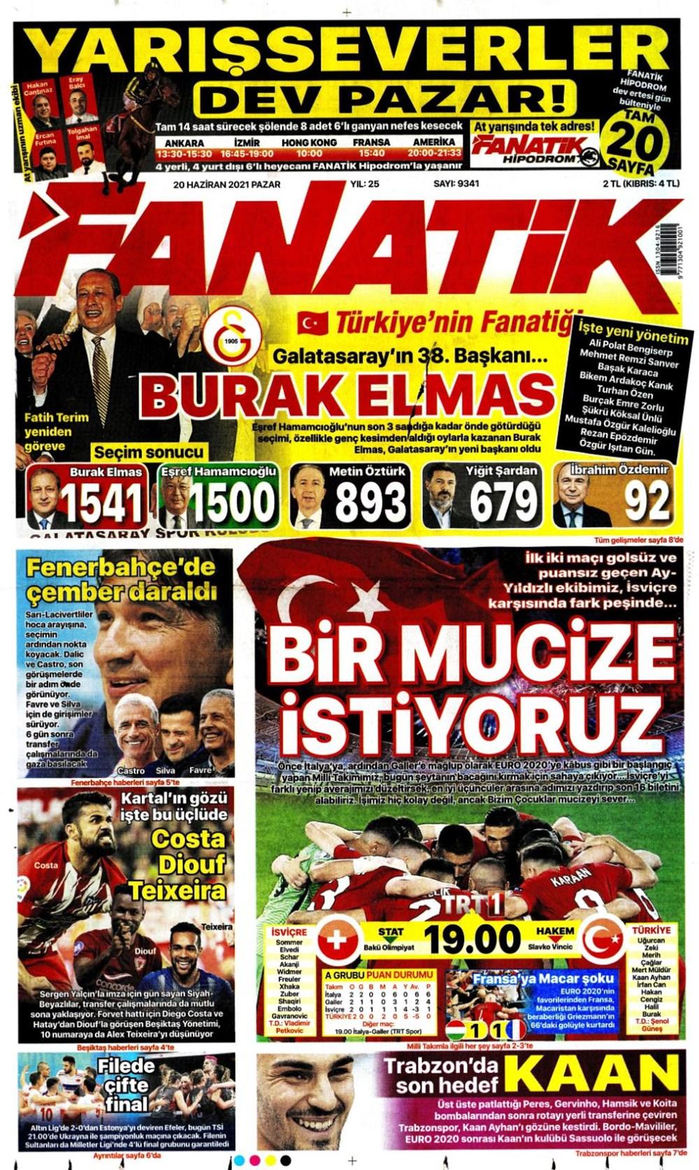 Günün spor manşetleri (20 Haziran 2021) - 3