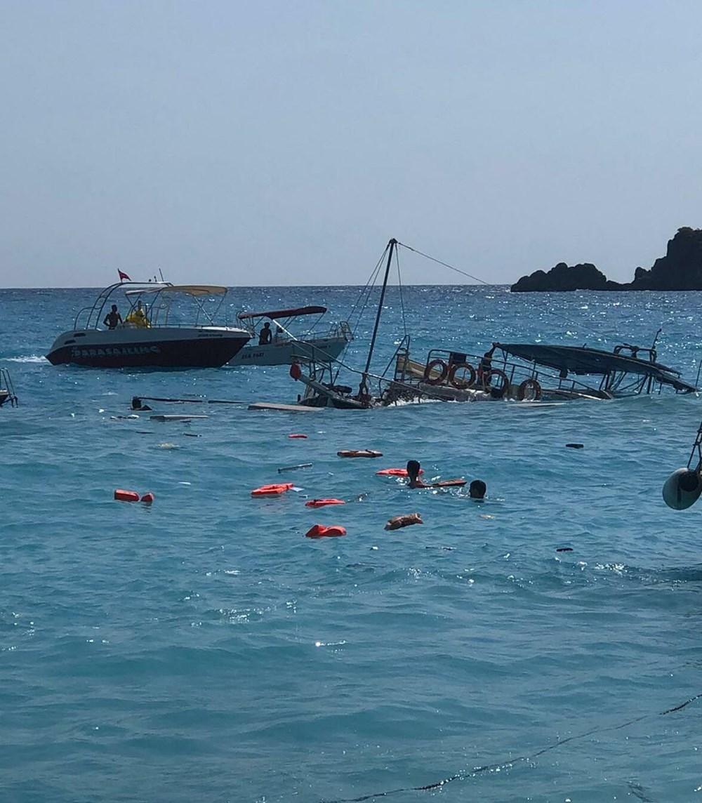 Fethiye'de tur teknesi battı - 4