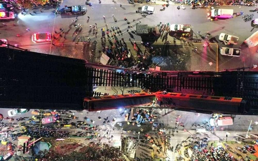 Meksika'da tren raylarını taşıyan üst geçit çöktü: 15 kişi öldü, 70 kişi yaralandı - 6
