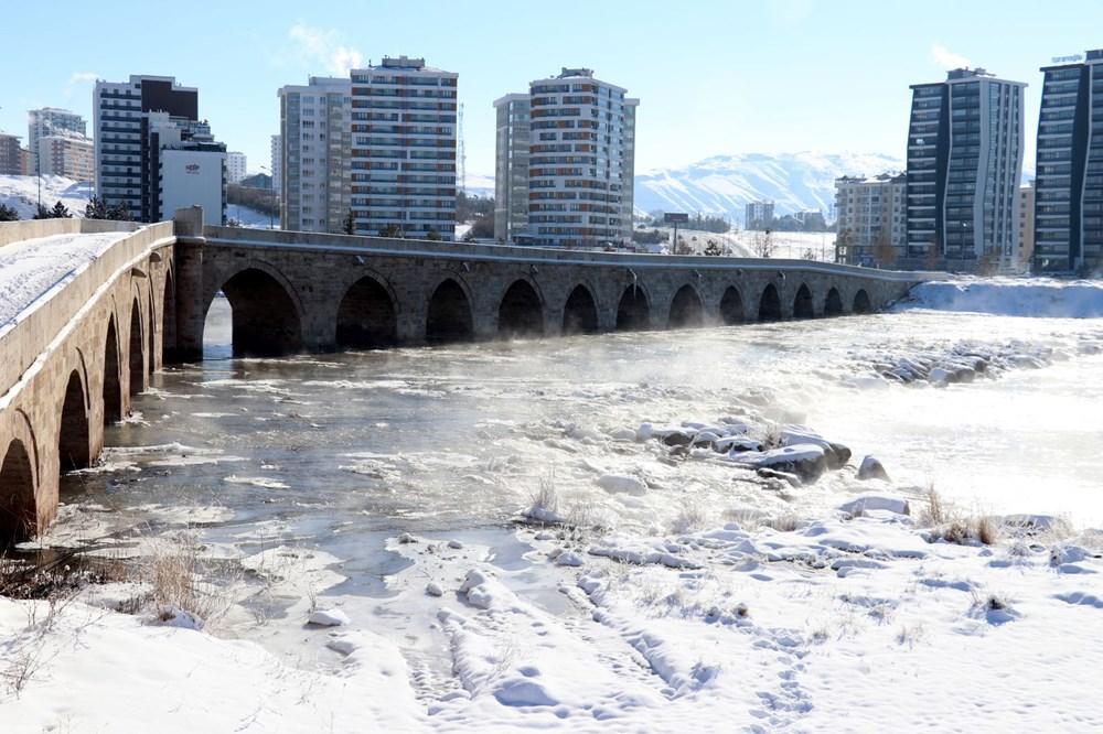 Türkiye'nin en soğuk yeri Sivas Altınyayla oldu, Kızılırmak kısmen buz tuttu - 3