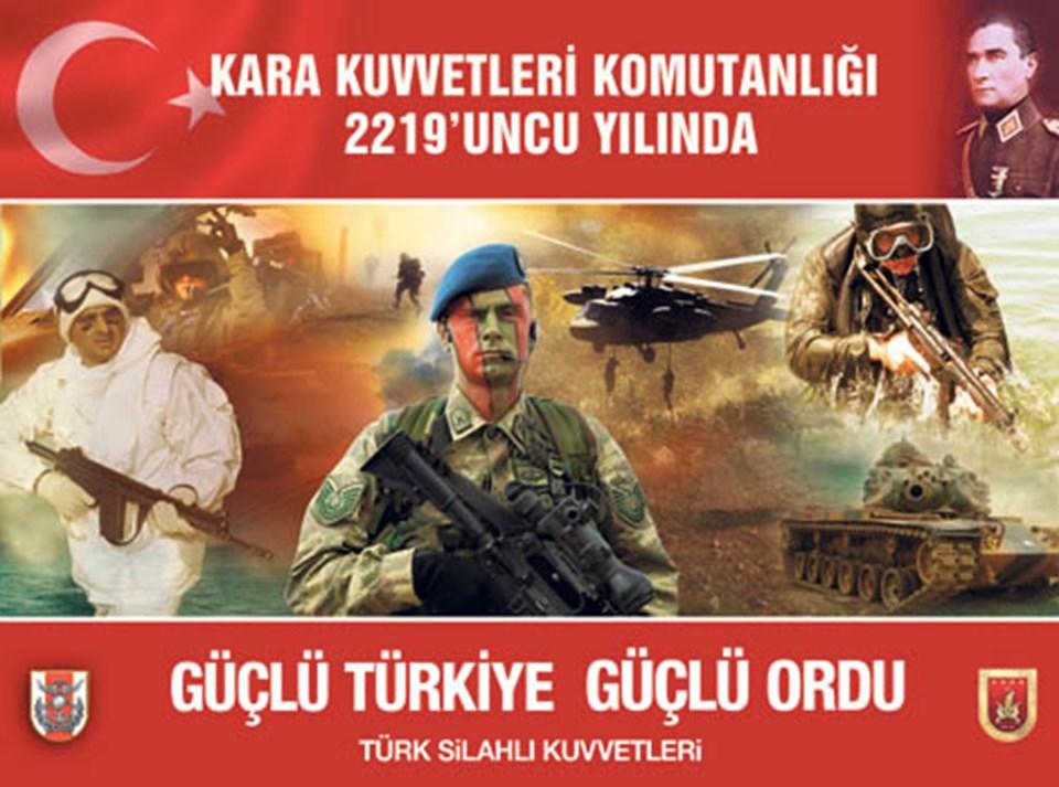 Kara Kuvvetleri Komutanlığı'nın 2219. kuruluş yıldönümü için hazırlanan afiş.