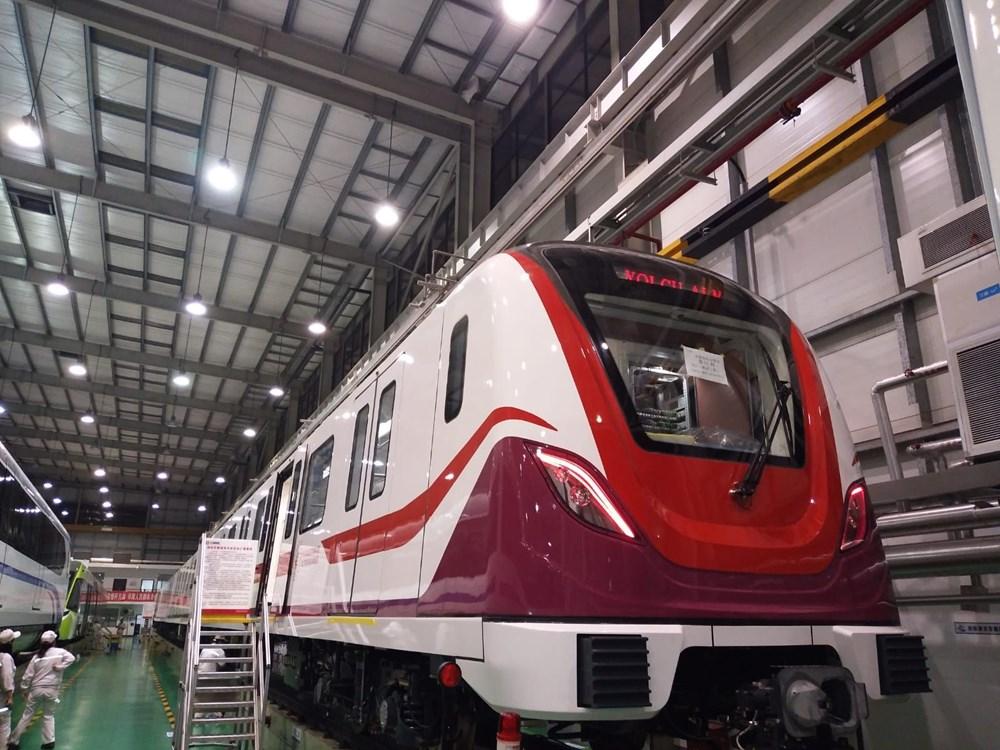 Gayrettepe-İstanbul Havalimanı Metrosu'nda ilk tren raylara indi - 11