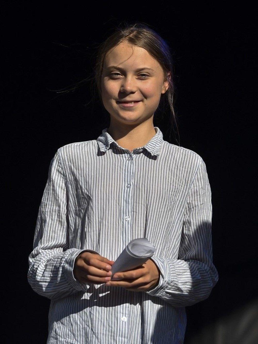 Greta Thunberg'in gerçek boyutlu heykeli tartışma yarattı - 6