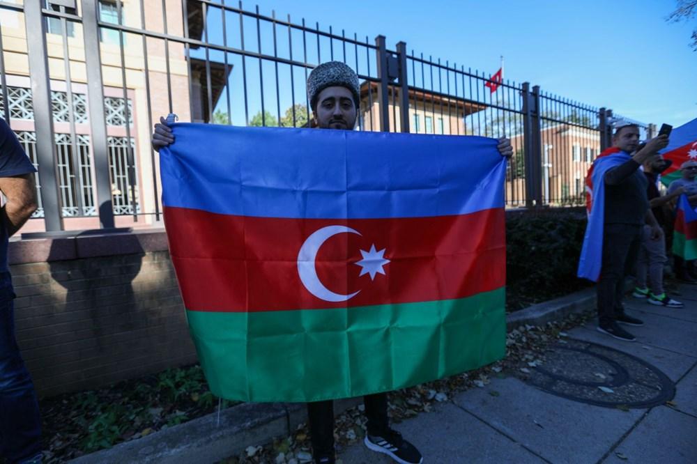 Beyaz Saray önünde Azerbaycan'a destek mitingi düzenlendi - 20