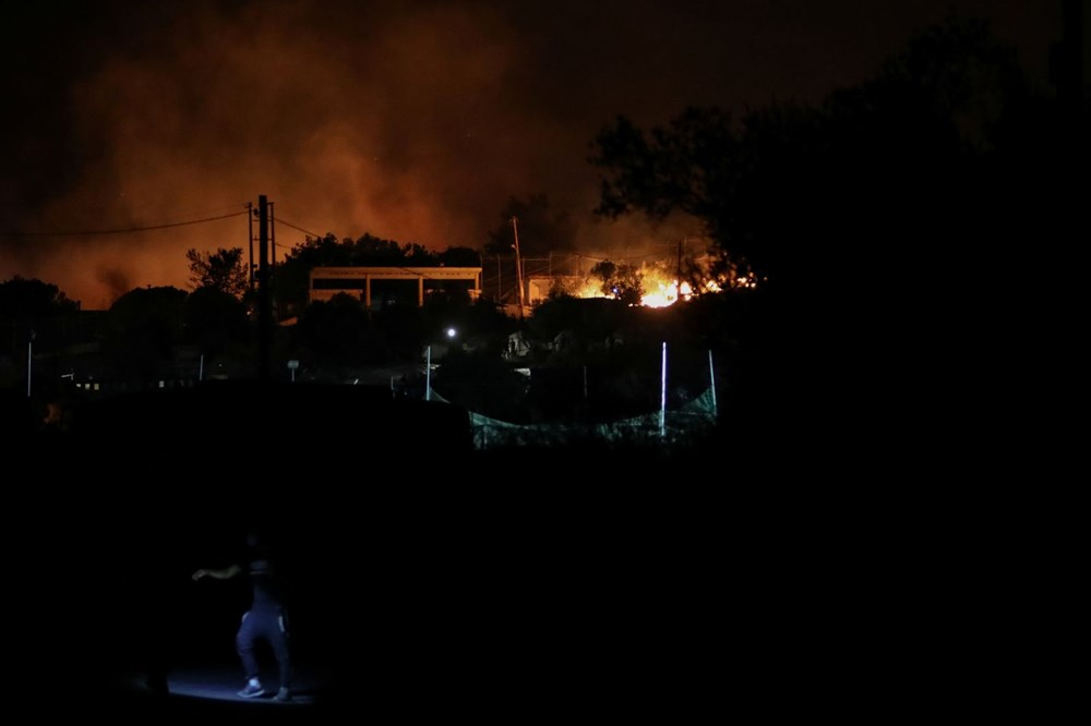 Midilli'deki sığınmacı kampında yangın - 2