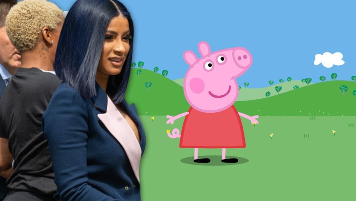 Cardi B'den çizgi karakter Peppa Pig'e tehdit: Günlerini saymaya başla