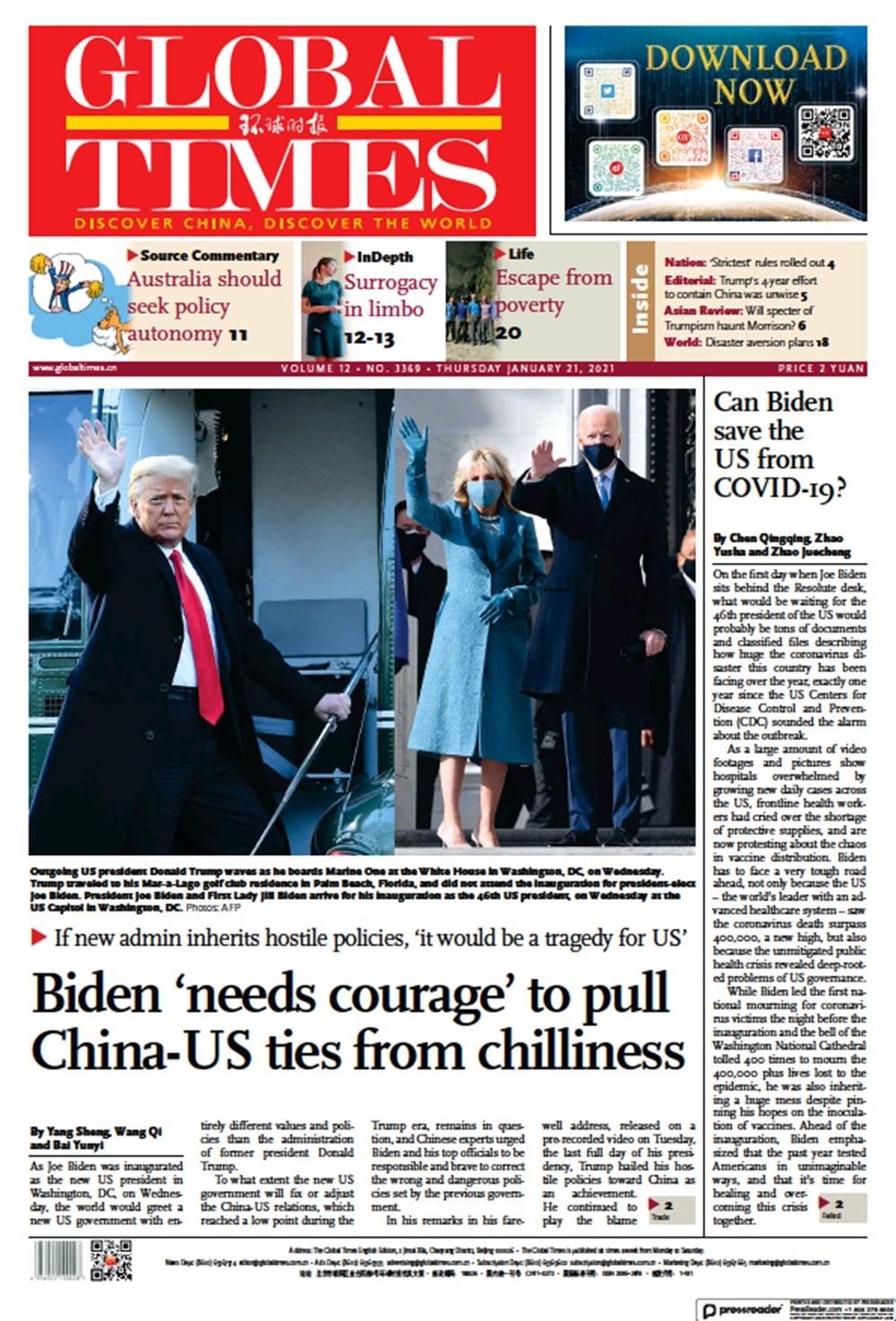 Dünya manşetlerinde Joe Biden: ABD'nin kurtuluşu - 6