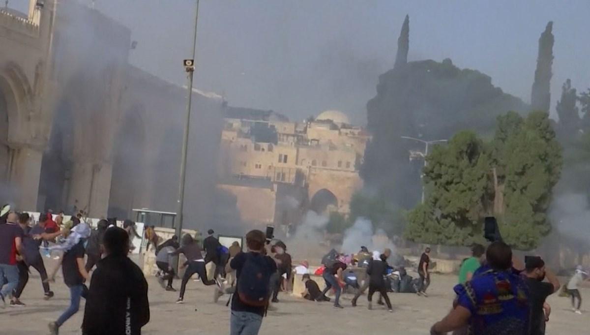 Mescid-i Aksa'ya İsrail baskını: Yüzlerce yaralı var