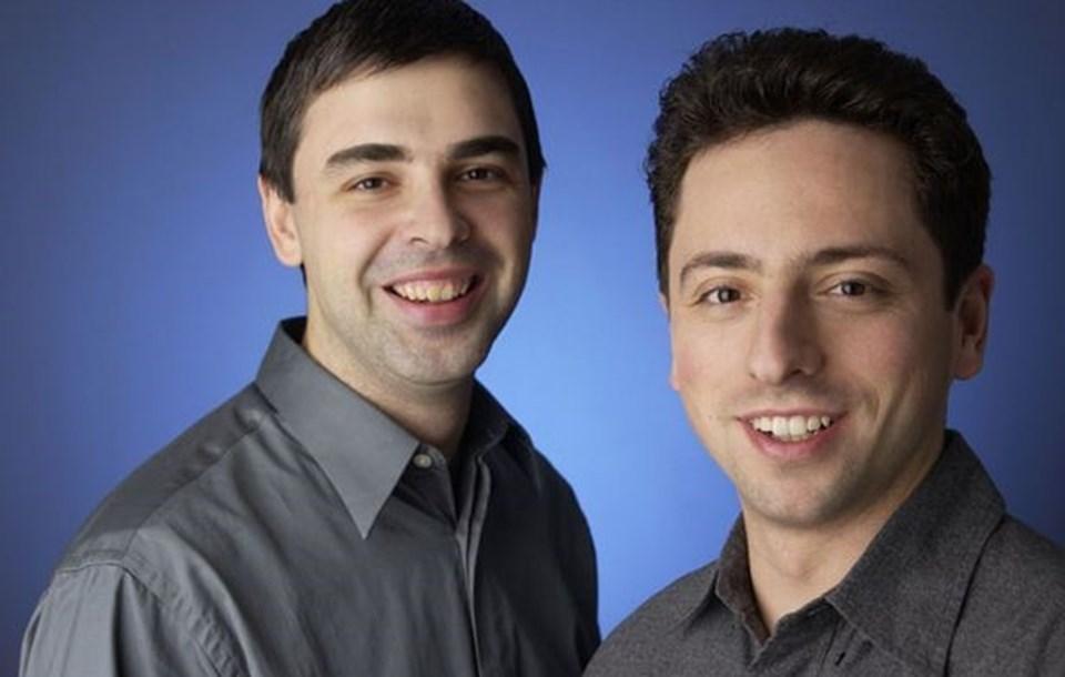 Google'ın kurucuları Larry Page (solda) ve Sergey Brin.
