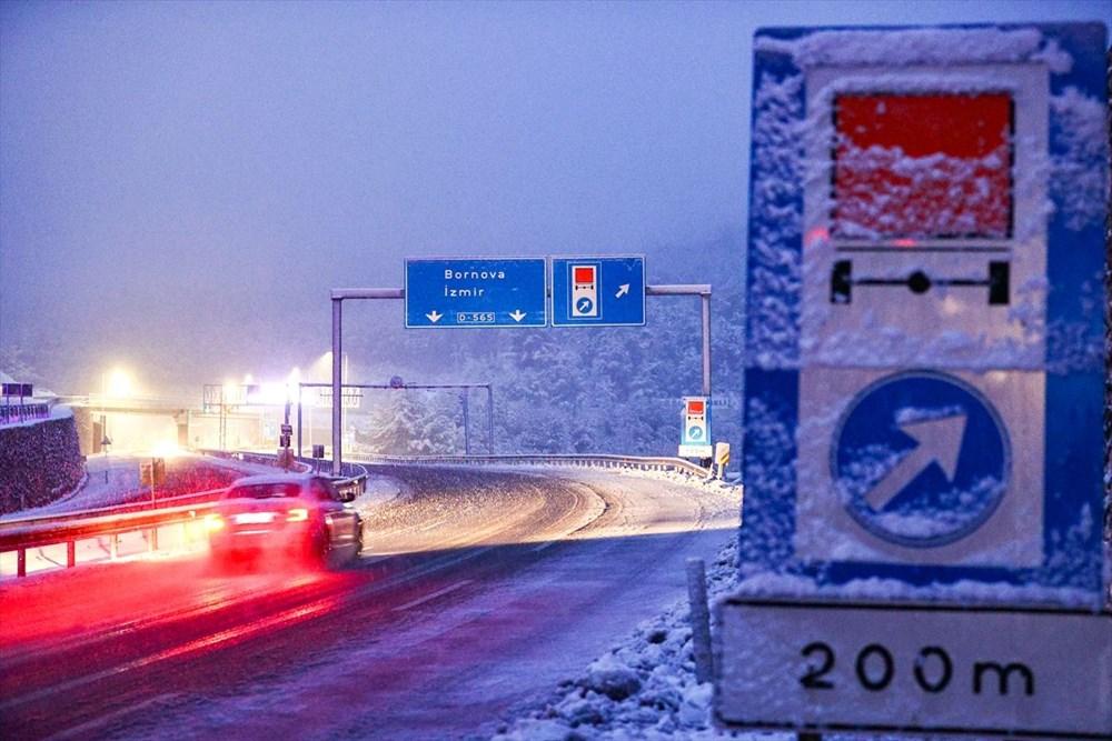 Yurtta kar yağışı (İzmir'in yüksek kesimlerinde kar yağışı etkili oluyor) - 5