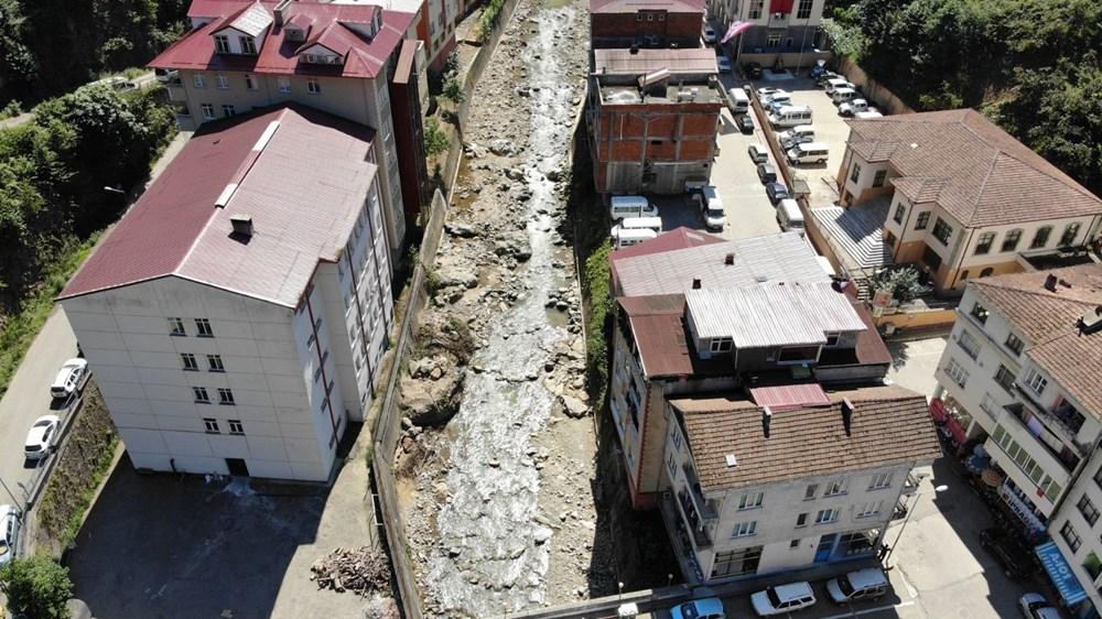 Trabzon'da tedirgin eden görüntü: Giresun'un Dereli ilçesi gibi sel riski taşıyor - 15