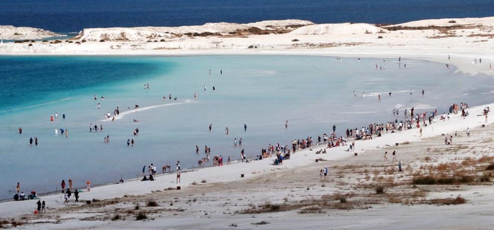 Bakan açıkladı: Salda Gölü'nün 'Beyaz Adalar' bölgesinde göle ve plaja giriş yasaklandı - 8