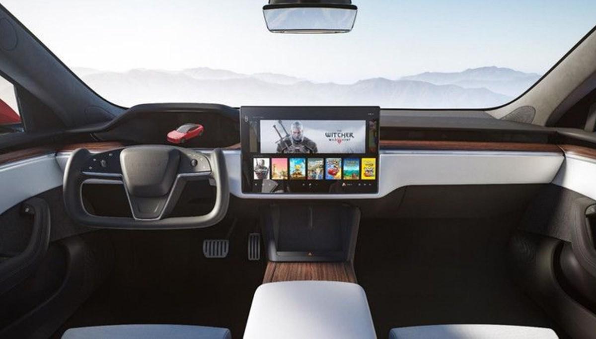 Tesla Model S'in yeni kokpit görselleri yayınlandı