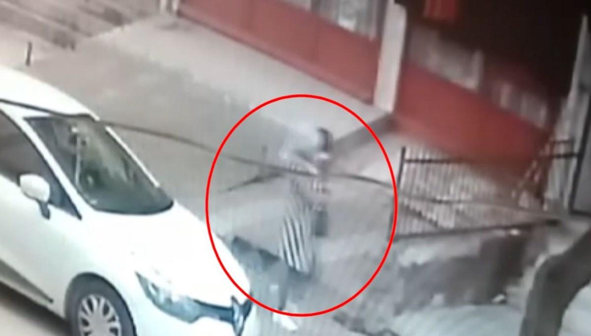 Kucağında çocuk olan kadın patlamadan saniyelerle kurtuldu