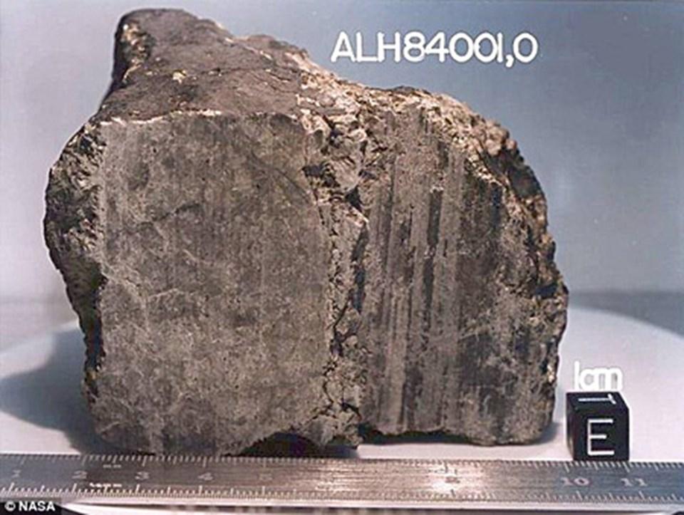 'Marslı' organizma fosillerini taşıyan Allen Hills 84001 meteoru 1996'da bulundu.