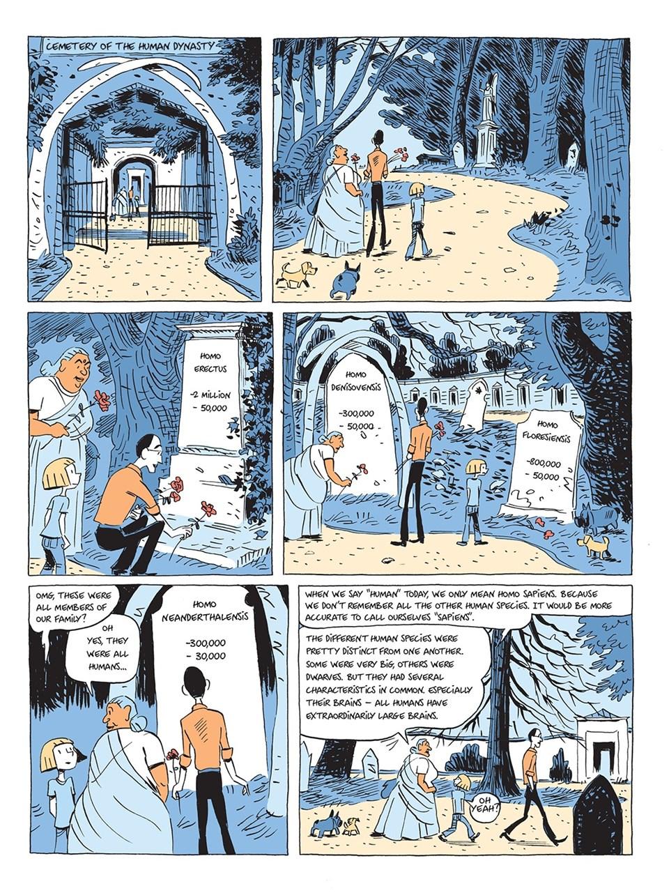 Çizgi roman olarak yeniden yayımlanacak olan Sapiens'ten bir sayfa