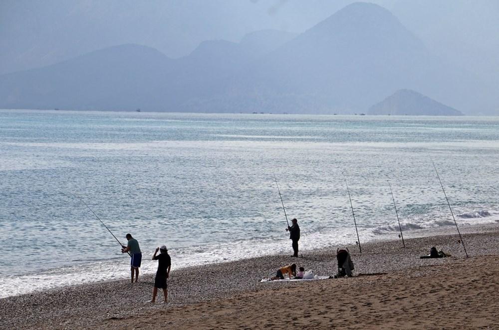 Olta balıkçılarının avlayıp denize attığı ölü balon balıkları fırtına sonrası sahile vurdu - 5