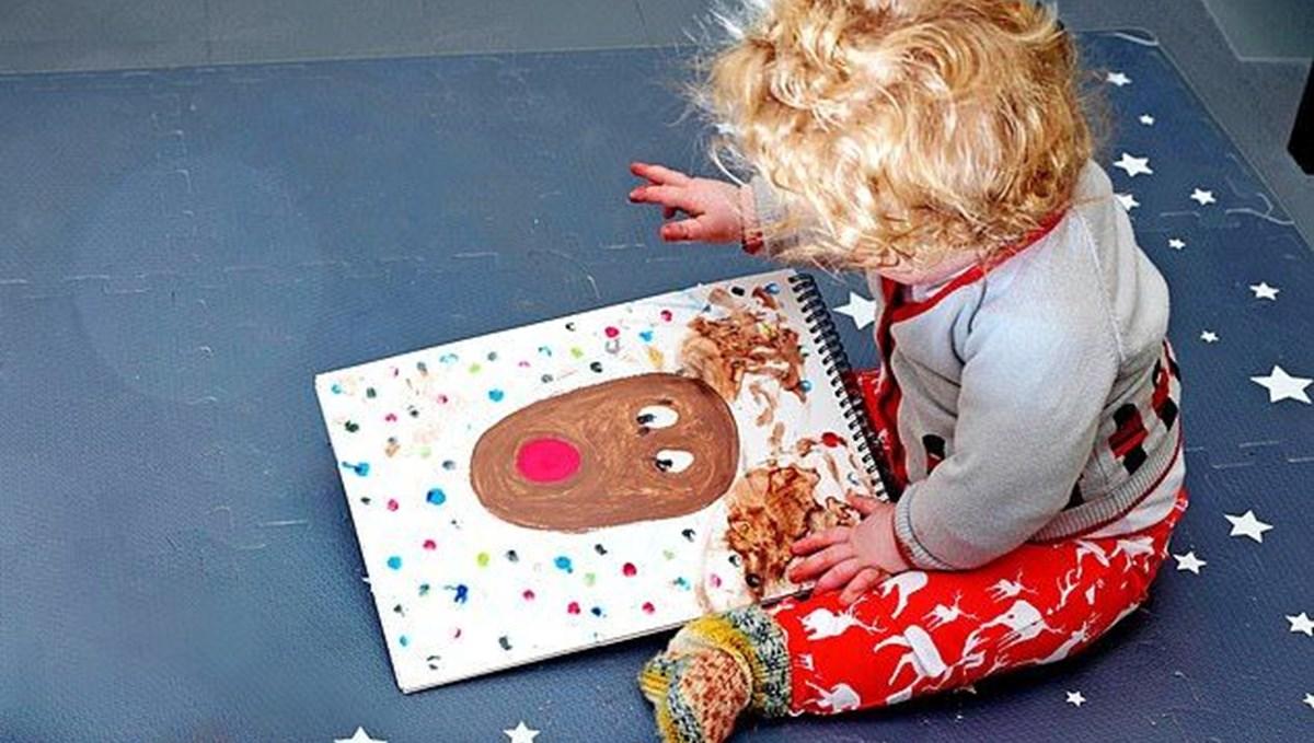 Boris Johnson'ın 8 aylık oğlunun çizdiği resim parkinson hastasına hediye edildi