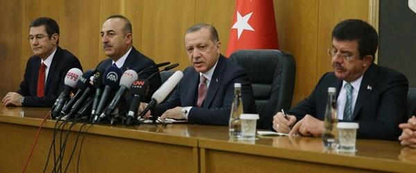 """Cumhurbaşkanı Erdoğan'dan """"kabine revizyonu"""" sorusuna yanıt"""