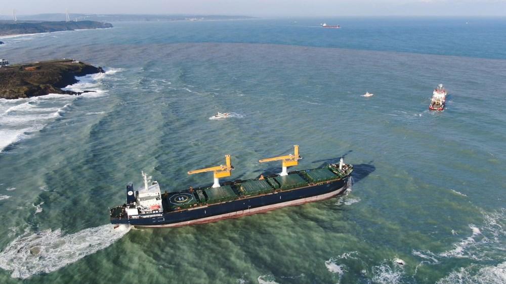 Riva'da sürüklenen kargo gemisi kurtarıldı - 7