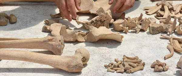 Gladyatörler kentinde Bizans mezarları incelemeye alındı (Stratonikeia Antik Kenti)