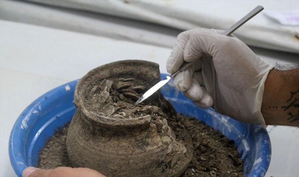 Aizanoi Antik Kenti'nde 'Roma'nın sikke koleksiyonu' bulundu - 5