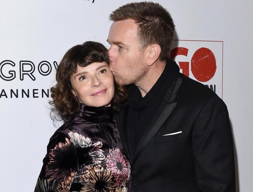 McGregor ve 51 yaşındaki Fransız eşiEve Mavrakis.