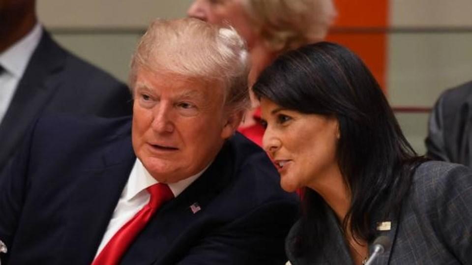 ABD Başkanı Donald Trump ve Nikki Haley