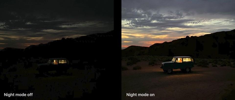 Sonunda kavuştuğumuz 'GeceModu' düşük ışıkta hayli başarılı performans sunuyor.