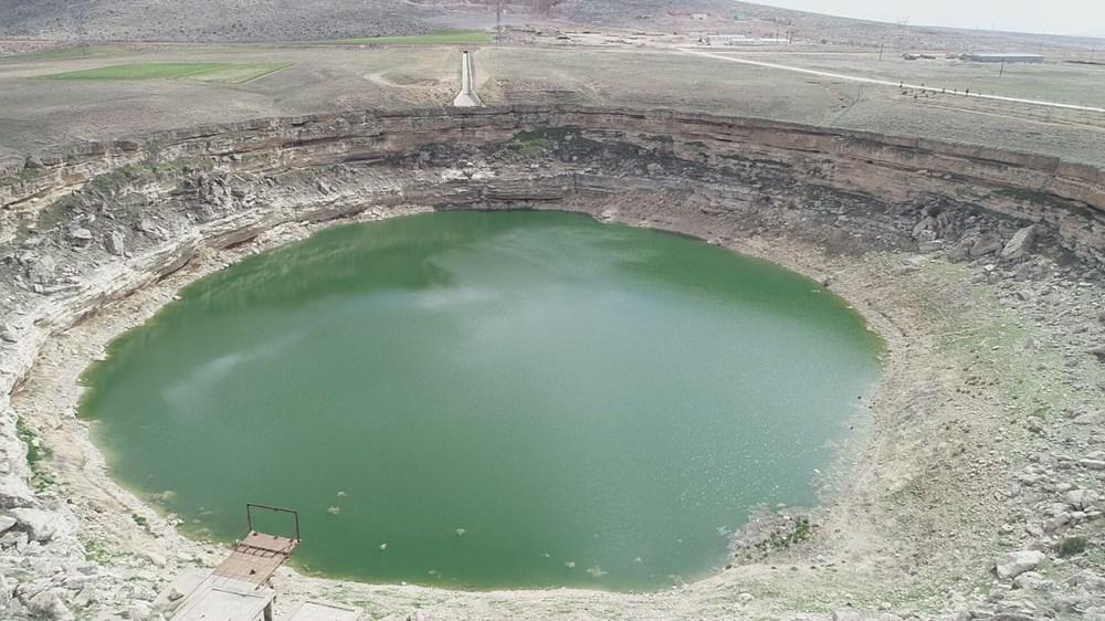 Timraş Obruk Gölü'nün suyu 8 metre azaldı - 6