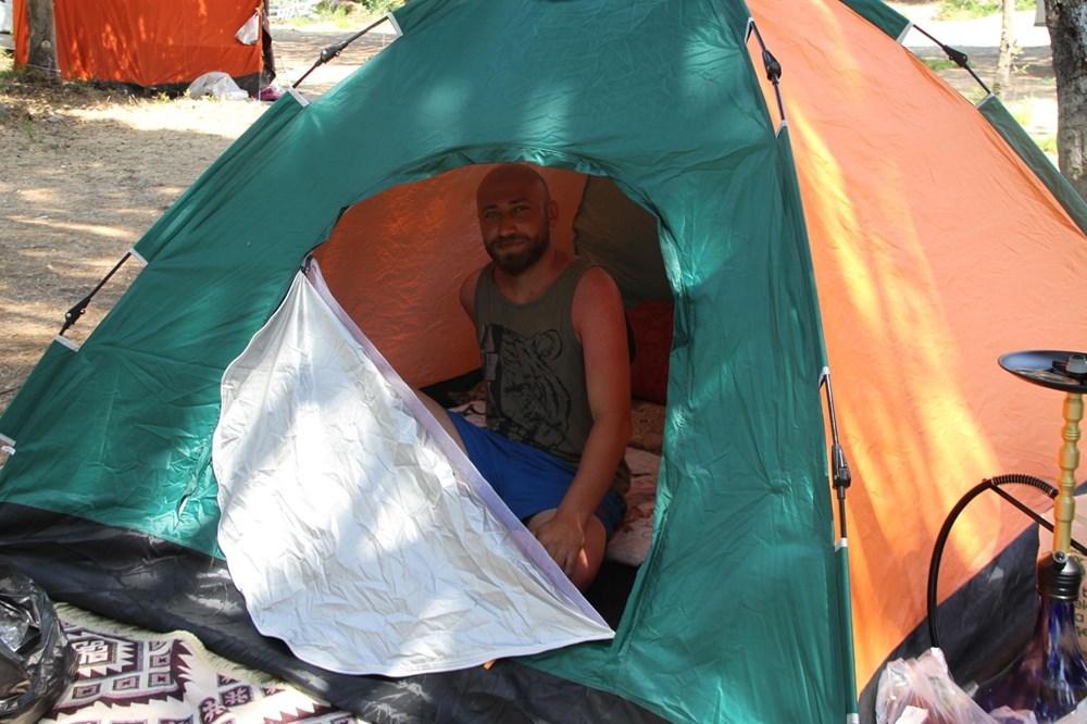 Sahiller çadır kente döndü: Günlüğü 45 liraya tatil - 16
