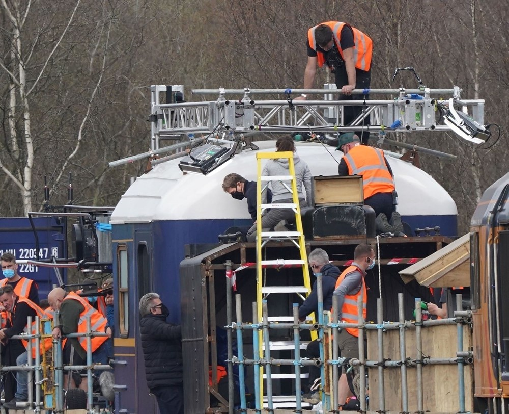 Görevimiz Tehlike 7 (Mission: Impossible 7) filminde tren sahnesi böyle çekildi - 9
