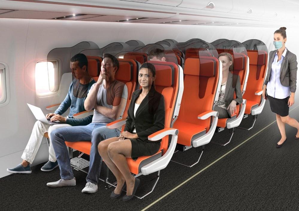 Corona virüs etkisi: Uçak yolculukları için yeni tasarım - 6