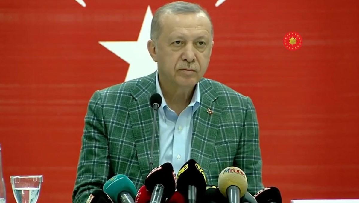 Cumhurbaşkanı Erdoğan: Ormanlarımızı yakanları bulmak boynumuzun borcu